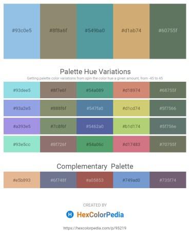 Palette image download - Sky Blue – Gray – Cadet Blue – Tan – Cadet Blue