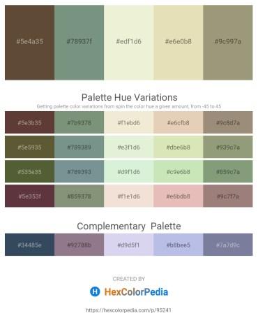 Palette image download - Dark Slate Blue – Slate Gray – Beige – Beige – Slate Blue