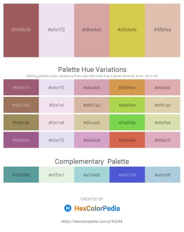 Palette image download - Rosy Brown – Lavender – Tan – Yellow Green – Tan
