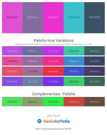 Palette image download - Orchid – Light Slate Gray – Medium Violet Red – Medium Turquoise – Dark Slate Gray
