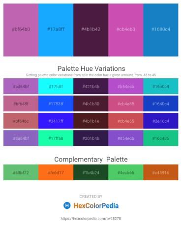Palette image download - Orchid – Dodger Blue – Indian Red – Orchid – Slate Gray