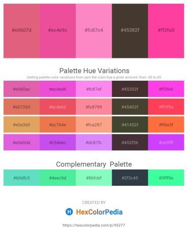 Palette image download - Pale Violet Red – Light Coral – Hot Pink – Peru – Hot Pink