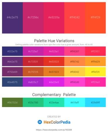 Palette image download - Dark Slate Blue – Medium Violet Red – Crimson – Tomato – Tomato