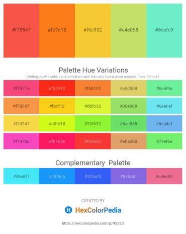 Palette image download - Tomato – Dark Orange – Gold – Dark Orange – Turquoise