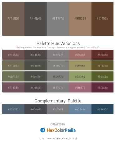 Palette image download - Dim Gray – Dim Gray – Gray – Rosy Brown – Beige