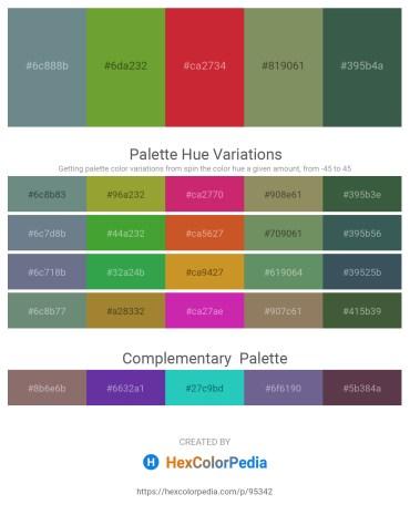 Palette image download - Slate Gray – Olive Drab – Firebrick – Dark Sea Green – Dark Slate Gray