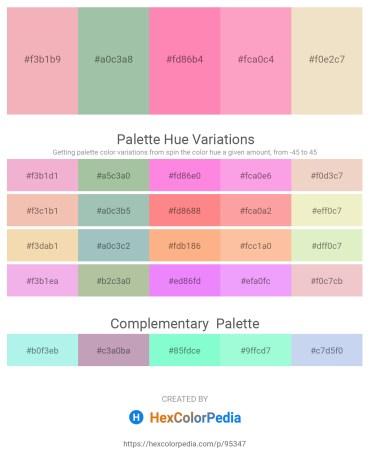Palette image download - Sandy Brown – Dark Sea Green – Hot Pink – Light Pink – Beige