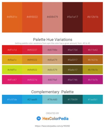Palette image download - Chocolate – Chocolate – Indian Red – Saddle Brown – Firebrick