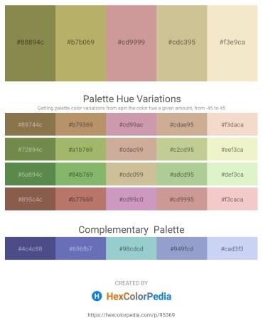 Palette image download - Dark Olive Green – Dark Khaki – Rosy Brown – Tan – Beige