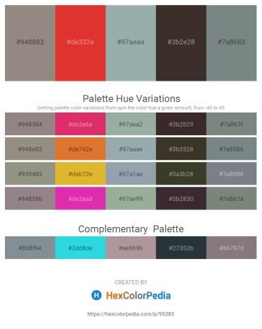 Palette image download - Gray – Crimson – Dark Sea Green – Dim Gray – Slate Gray