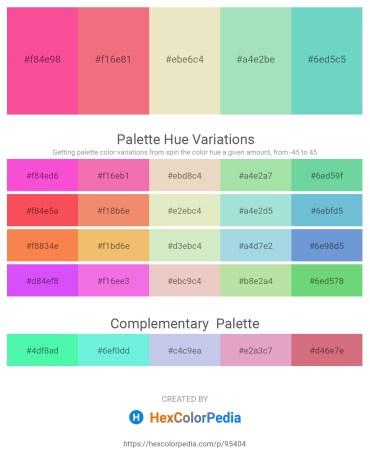 Palette image download - Hot Pink – Light Coral – Beige – Powder Blue – Medium Aquamarine