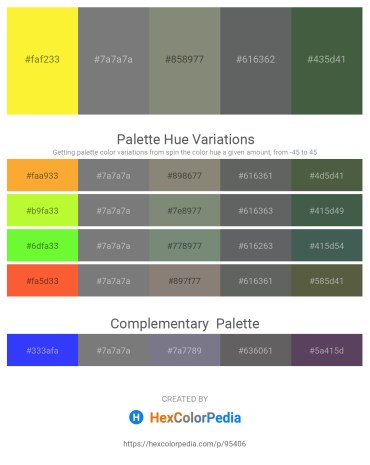 Palette image download - Yellow – Gray – Gray – Slate Gray – Dark Slate Gray