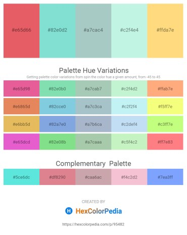 Palette image download - Light Coral – Sky Blue – Light Steel Blue – Pale Turquoise – Navajo White