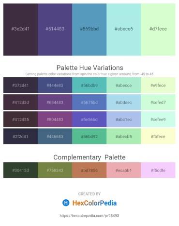 Palette image download - Black – Dark Slate Blue – Steel Blue – Pale Turquoise – Honeydew