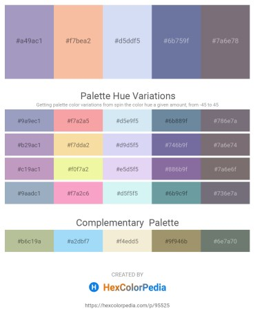 Palette image download - Light Steel Blue – Wheat – Lavender – Light Slate Gray – Gray
