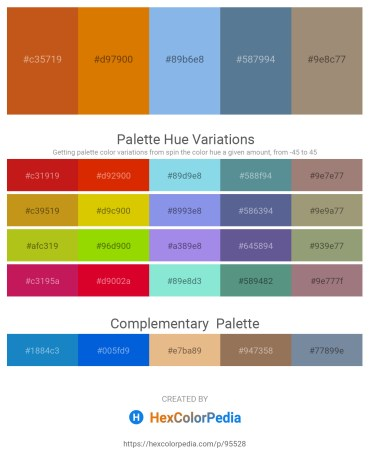 Palette image download - Chocolate – Dark Orange – Sky Blue – Cadet Blue – Rosy Brown