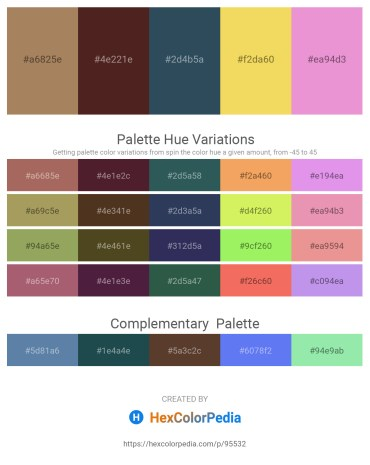 Palette image download - Rosy Brown – Dim Gray – Dark Slate Gray – Gray – Violet