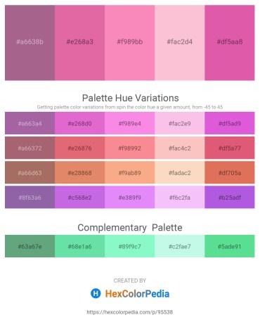 Palette image download - Rosy Brown – Pale Violet Red – Hot Pink – Pink – Pale Violet Red