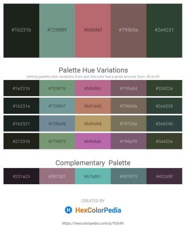 Palette image download - Dark Slate Gray – Cadet Blue – Indian Red – Dim Gray – Dark Slate Gray