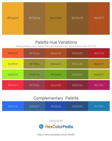 Palette image download - Goldenrod – Sienna – Sienna – Sienna – Firebrick