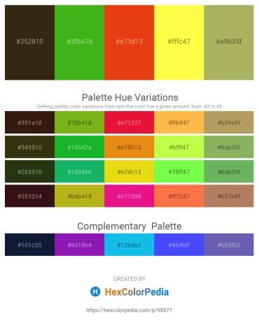 Palette image download - Black – Lime Green – Chocolate – Yellow – Dark Khaki