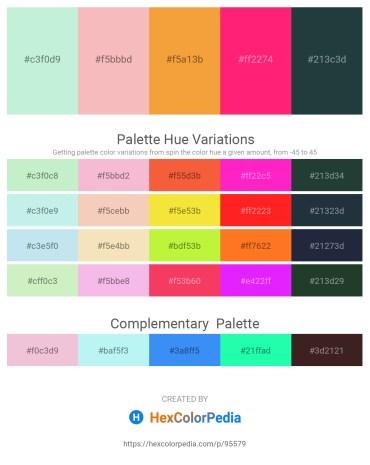 Palette image download - Pale Turquoise – Burlywood – Sandy Brown – Deep Pink – Dark Slate Gray