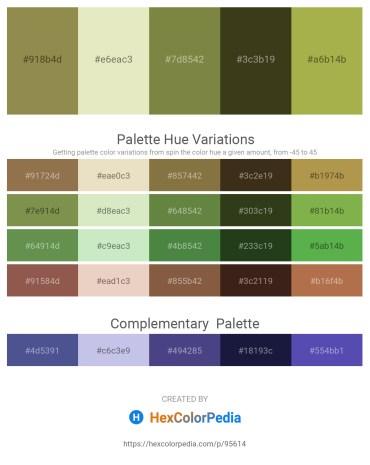Palette image download - Dark Khaki – Beige – Dark Olive Green – Dark Olive Green – Dark Khaki