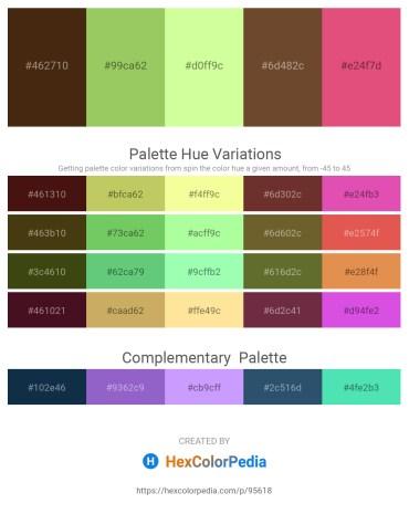 Palette image download - Saddle Brown – Dark Khaki – Pale Green – Orchid – Pale Violet Red