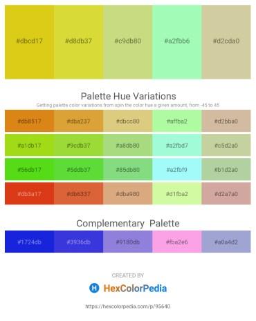 Palette image download - Goldenrod – Goldenrod – Dark Slate Gray – Pale Green – Tan