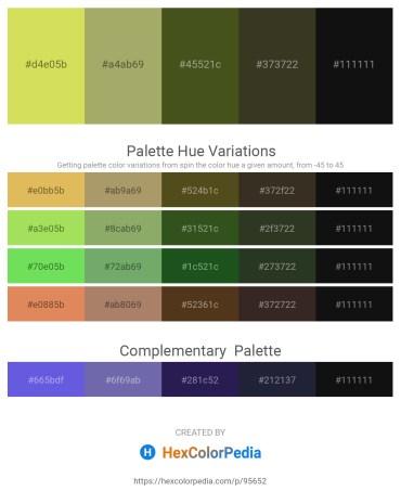 Palette image download - Khaki – Dark Khaki – Dark Olive Green – Light Blue – Black
