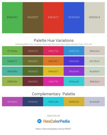 Palette image download - Medium Sea Green – Dark Olive Green – Firebrick – Royal Blue – Light Gray