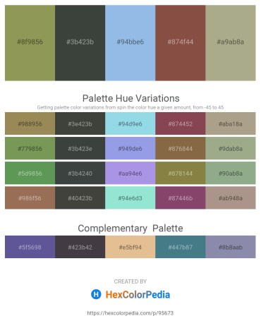 Palette image download - Dark Khaki – Dark Slate Gray – Sky Blue – Sienna – Dark Sea Green