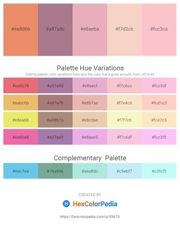Palette image download - Dark Salmon – Rosy Brown – Plum – Wheat – Pink