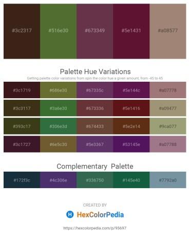 Palette image download - Dark Slate Blue – Dark Olive Green – Salmon – Dark Slate Blue – Rosy Brown
