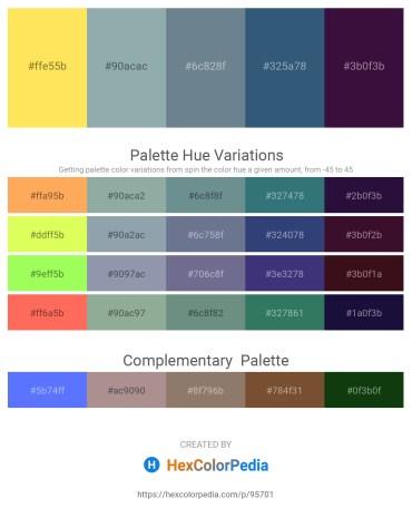 Palette image download - Gold – Light Slate Gray – Slate Gray – Dark Slate Blue – Dark Violet