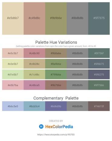 Palette image download - Beige – Rosy Brown – Dark Khaki – Gray – Slate Gray