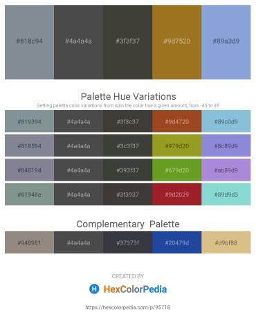 Palette image download - Light Slate Gray – Dim Gray – Dim Gray – Sky Blue – Light Steel Blue