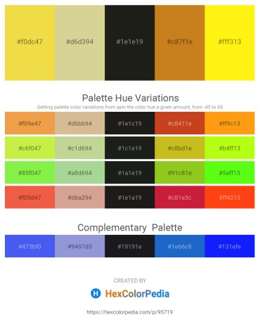 Palette image download - Gold – Tan – Black – Chocolate – Yellow