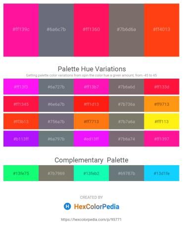 Palette image download - Deep Pink – Slate Gray – Deep Pink – Dim Gray – Orange Red