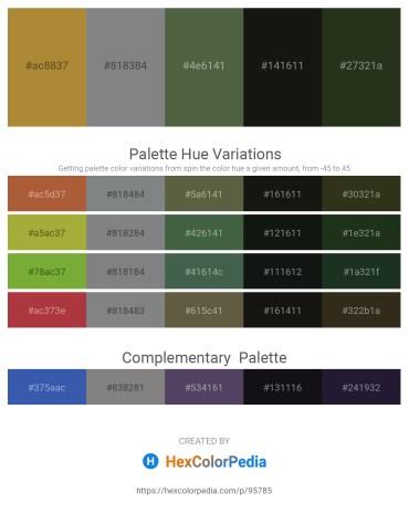 Palette image download - Peru – Slate Gray – Dark Olive Green – Black – Yellow