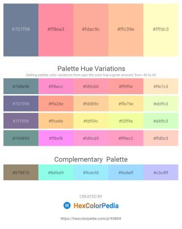 Palette image download - Light Slate Gray – Hot Pink – Light Salmon – Navajo White – Lemon Chiffon