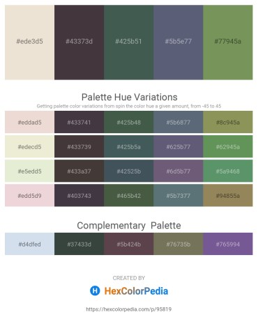 Palette image download - Beige – Dim Gray – Dark Slate Gray – Slate Gray – Dark Sea Green
