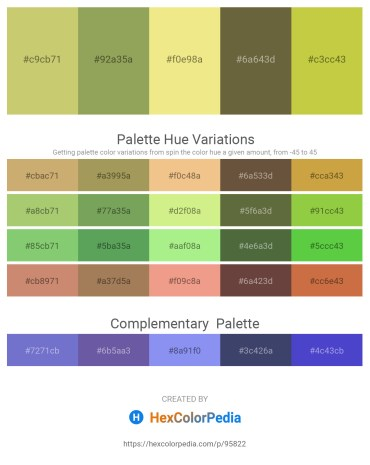 Palette image download - Dark Khaki – Dark Khaki – Khaki – Dark Olive Green – Yellow Green