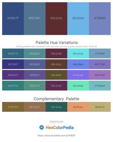 Palette image download - Dark Slate Blue – Dark Sea Green – Dim Gray – Sky Blue – Steel Blue