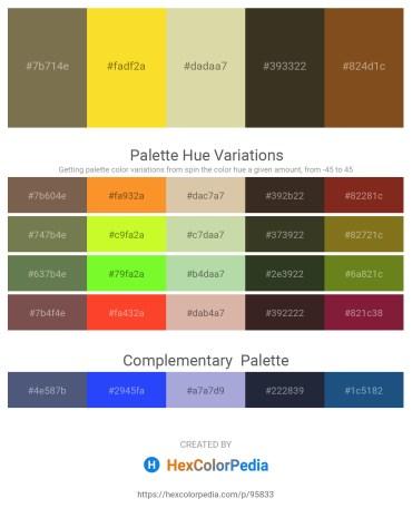 Palette image download - Dark Olive Green – Gold – Tan – Beige – Saddle Brown