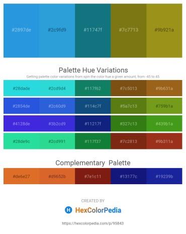 Palette image download - Royal Blue – Sea Green – Teal – Light Slate Gray – Olive Drab