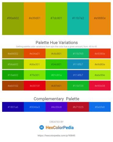 Palette image download - Olive – Orange – Lawn Green – Light Sea Green – Dark Orange
