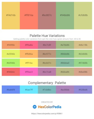 Palette image download - Sandy Brown – Salmon – Rosy Brown – Dark Sea Green – Tan
