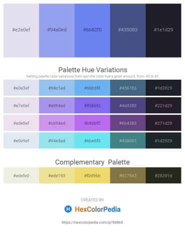 Palette image download - Light Steel Blue – Sky Blue – Cornflower Blue – Dark Slate Blue – Light Steel Blue