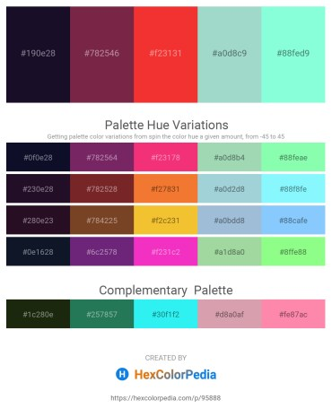 Palette image download - Midnight Blue – Brown – Crimson – Powder Blue – Aquamarine